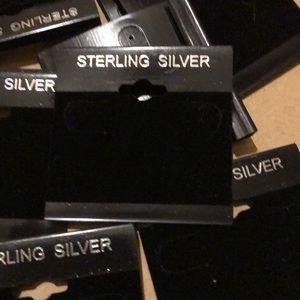 Jewelry - 10 EARRING DISPLAY CARD HOLDER BLACK